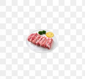 Ribs On A Plate - Cuisine Meat PNG