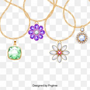 Necklace - Necklace Earring Jewellery Gold Rope Chain PNG