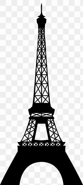 Eiffel Tower Silhouette Transparent Clip Art Image - Eiffel Tower Clip Art PNG