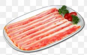 Bacon - Bacon Ham Sausage Breakfast Pizza PNG