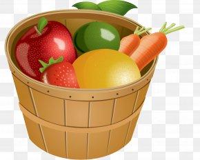 Bucket Of Fruits And Vegetables - Basket Of Fruit Clip Art PNG
