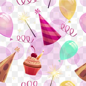 Creative Birthday Background Vector Material - Birthday Euclidean Vector Clip Art PNG