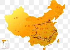 Long Map - Flag Of China United States Chinese Civil War Map PNG