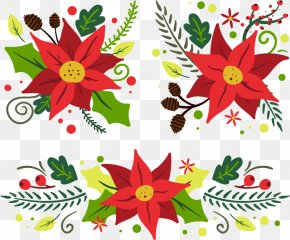 Christmas Flowers - Floral Design Christmas Ornament Cut Flowers Gift Dahlia PNG