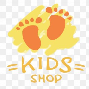 Footprints Vector Orange Creative Children's Clothing Store - T-shirt Hang Ten Unisex Clothing Brand PNG