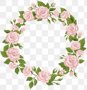 Roses Border Pink Clip Art - Clip Art PNG
