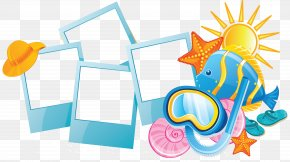 Ocean Blue Frame - Summer Vacation Holiday Clip Art PNG