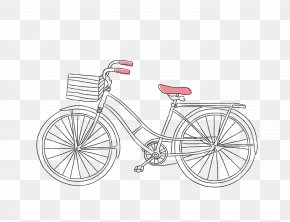 Vector Black Line Bike - Bicycle Euclidean Vector Drawing PNG