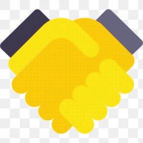 Logo Handshake - Yellow Font Design Meter PNG