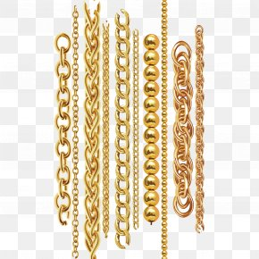 Vector Gold Chain - Chain Gold Necklace Metal PNG