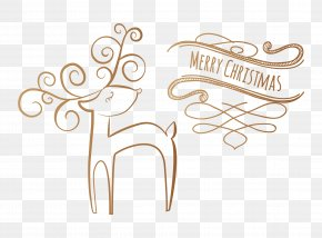 Vector Happy New Year Elk - New Year Christmas PNG