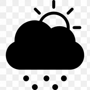 Falling Snow - Cloud Symbol Rain Clip Art PNG