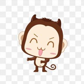 New Monkey Cartoon Elements - Monkey Cartoon Clip Art PNG