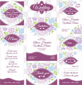 Elegant Wedding VI Design Pattern Vector Material - Wedding Invitation Greeting Card Clip Art PNG