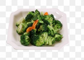 Fried Broccoli - Broccoli Cauliflower Food Vegetable PNG