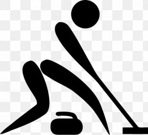 Curling At The 2018 Olympic Winter Games - Winter Olympic Games Curling Pictogram Clip Art PNG