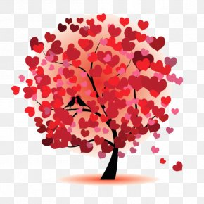 Heart Tree - Love Heart Clip Art PNG