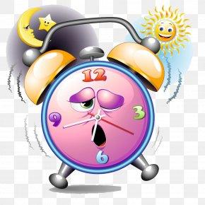 Cartoon Alarm Clock - Alarm Clock Table Digital Clock Illustration PNG