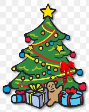 Christmas Tree Clipart - Christmas Tree Santa Claus Clip Art PNG