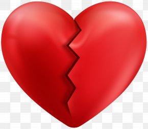 Cracked Heart Transparent Clip Art Image - Heart Clip Art PNG