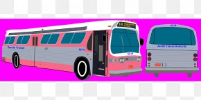 Commercial Vehicle Magenta - Bus Cartoon PNG