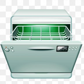 Cartoon Microwave - Dishwasher Home Appliance Washing Machine Dishwashing PNG