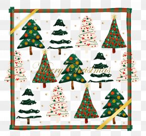 Variety Of Christmas Tree And Border - Christmas Tree Christmas Ornament Christmas Decoration PNG