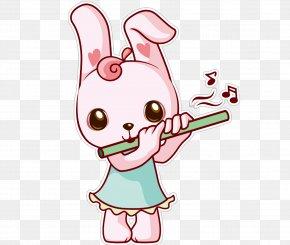 Flute Bunny - Dizi Cartoon Xiao PNG