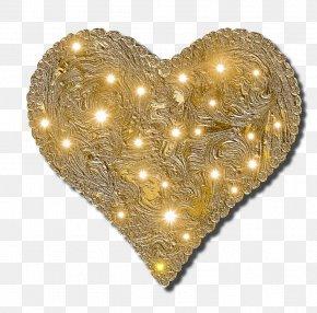 Gold Heart - Gold Heart Desktop Wallpaper PNG