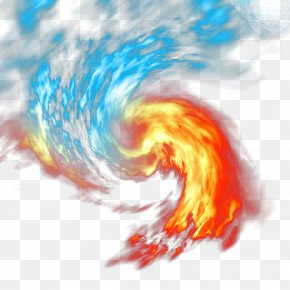 Ice And Fire Whirlpool - Light Fire Flame PNG