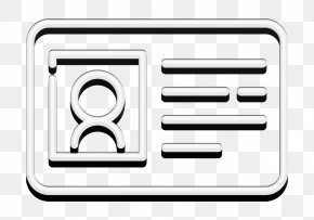 Line Art Symbol - Card Icon Contact Icon University Icon PNG