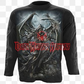 T-shirt - Long-sleeved T-shirt Death Clothing PNG