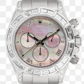 Tahitian Pearl - Rolex Daytona Diamond Watch Colored Gold PNG