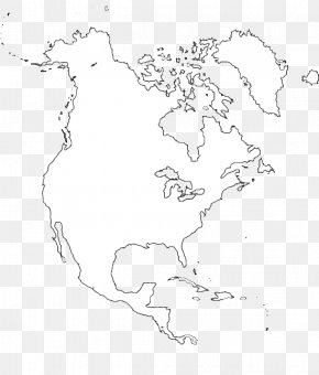 Map - Blank Map United States Central America Paper PNG