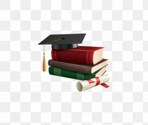 Dr. Cap Books - Square Academic Cap Graduation Ceremony Clip Art PNG