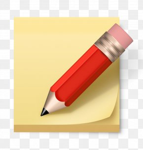 Red Pencil And Book - Post-it Note Paper Pencil Icon PNG