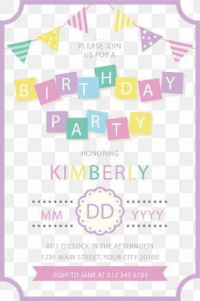 Birthday Party Invitation Poster - Birthday Paper Wedding Invitation Party Gift PNG