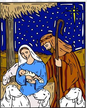 Jesus Christmas Cliparts - Nazareth Christmas Nativity Of Jesus Nativity Scene Clip Art PNG
