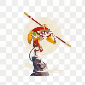Journey To The West Monkey Illustration - Sun Wukong Journey To The West Character Designer Illustration PNG