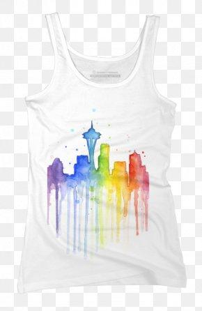 T-shirt - T-shirt Watercolor Painting Olga Shvartsur, PharmD PNG