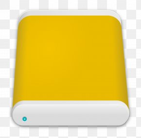 Yellow Mobile Hard Disk - Hard Disk Drive Disk Storage Pixabay Icon PNG