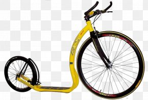 Yellow Bicycle Wheel Size - Kick Scooter Car Bicycle Wheel PNG