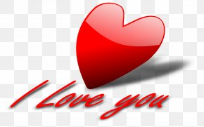 I Love You - Love Heart Clip Art PNG