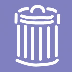 Trash Can Sign - Waste Container Paper Clip Art PNG
