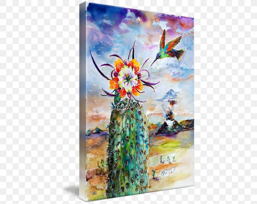 Watercolor Painting Modern Art Cactus Canvas Print, PNG, 431x650px, Watercolor Painting, Acrylic Paint, Art, Artwork, Cactus Download Free
