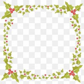 Vector Christmas Foliage Frame - Christmas Euclidean Vector Santa Claus PNG