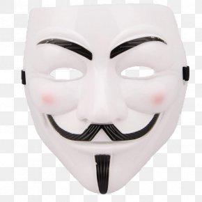 Mask - Guy Fawkes Mask V For Vendetta Costume PNG