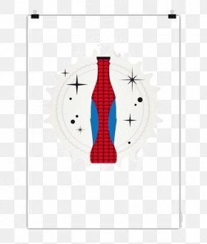 Creative Spiderman Soda Bottles - Polka Dot Brand Red Font PNG