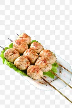 Barbecue Grill Pill - Yakitori Churrasco Barbecue Fish Ball Kebab PNG