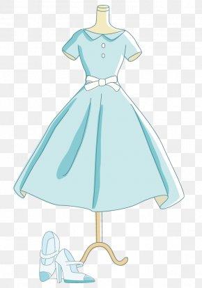 Princess Dress And High Heels - Gown High-heeled Footwear Skirt PNG